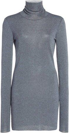 Zeynep Arcay Turtleneck Knit Mini Dress
