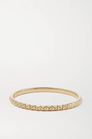 Gold Spike 18-karat gold bracelet   Jacquie Aiche   NET-A-PORTER