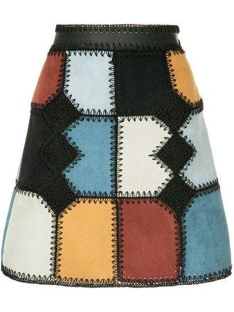 Loveless Patchwork Mini a-line Skirt - Farfetch