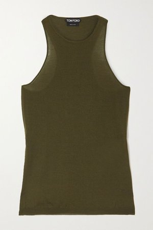Green Cashmere and silk-blend tank | TOM FORD | NET-A-PORTER