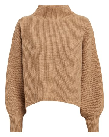 Helena Wool-Cashmere Ribbed Sweater