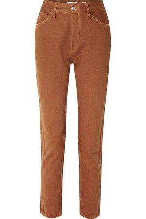 RE/DONE   50s Cigarette high-rise straight-leg jeans   NET-A-PORTER.COM