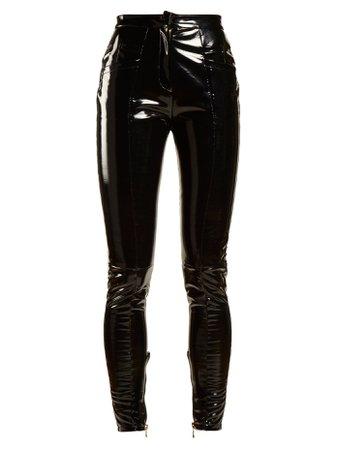 Pantalon skinny taille mi-haute enduit | Balmain | MATCHESFASHION.COM FR