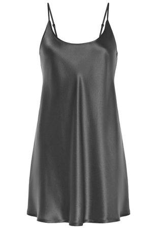 Silk Silver Silk Short Nightgown | La Perla