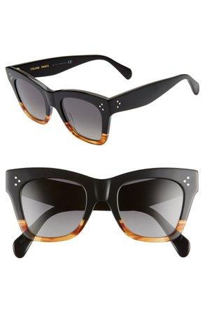 CELINE 50mm Polarized Square Sunglasses | Nordstrom
