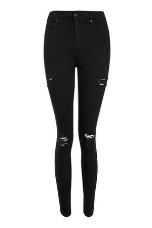 Black Super Rip Jamie Jeans   Topshop