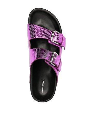 Isabel Marant Lennyo slip-on sandals - FARFETCH