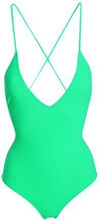 Antonia Lace-up Neon Swimsuit
