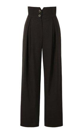 Pleated Wool-Blend Straight-Leg Trousers By Le17 Septembre | Moda Operandi