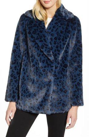 Faux Leopard Fur Jacket