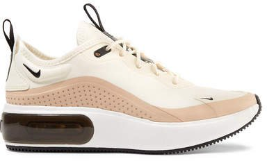 Air Max Dia Leather-trimmed Mesh Sneakers - Cream