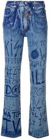 Van Beirendonck Pre-Owned ink writing jeans