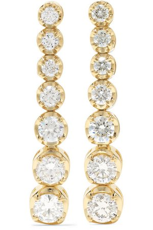 Jennifer Meyer | 18-karat gold diamond earrings | NET-A-PORTER.COM