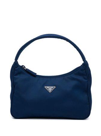 Prada Pre-Owned 2000s Triangle Logo Shoulder Bag - Farfetch