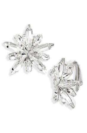Cristabelle Navette Burst Clip-On Earrings