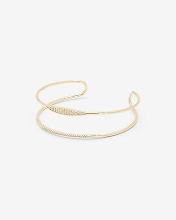 Cubic Zirconia Stone Cuff Bracelet | Express