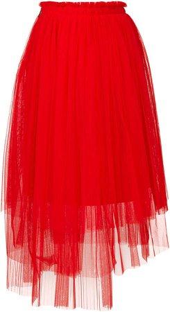 asymmetric tulle skirt