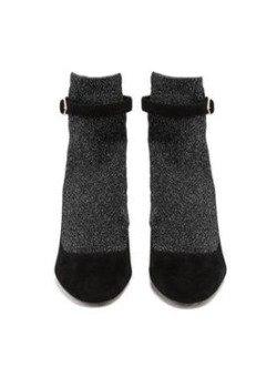 Black Heels with Fake Grey Socks