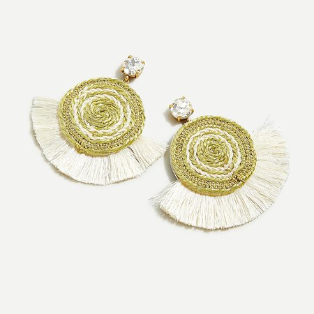 J.Crew: Rope Fan Earrings For Women gold