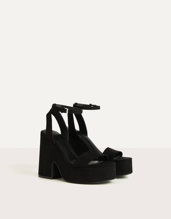 Black Platform Sandals - Bershka