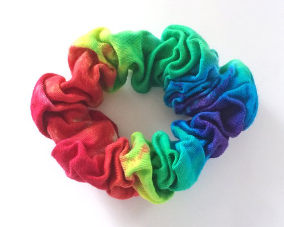 rainbow scrunched