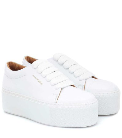 Drihanna Platform Leather Sneakers - Acne Studios | mytheresa