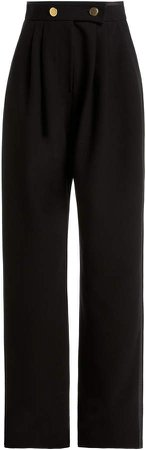 George Keburia High-Waisted Straight Leg Pants