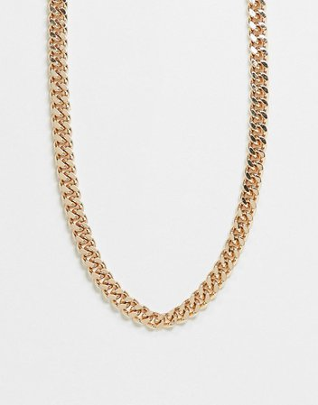 Weekday Heather chain necklace in gold | ASOS