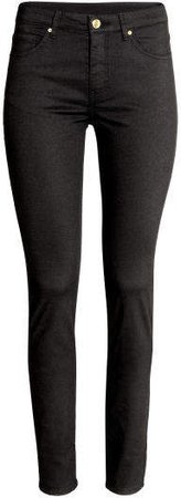 Super-slim-fit Pants - Black