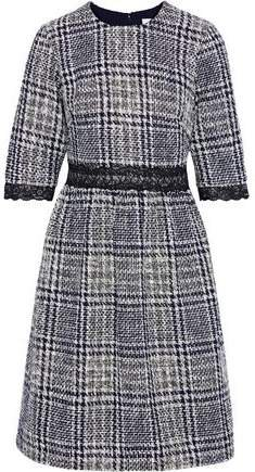 Aghal Lace-trimmed Checked Tweed Dress