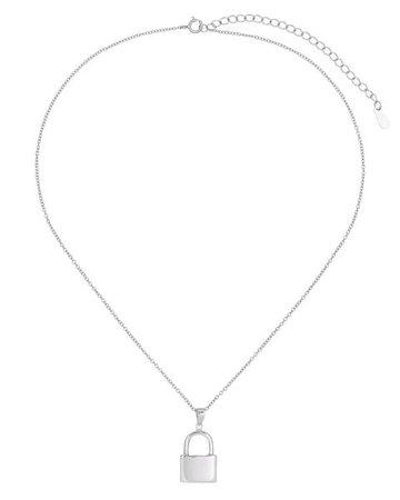 Gold Lock Necklace | Adina's Jewels