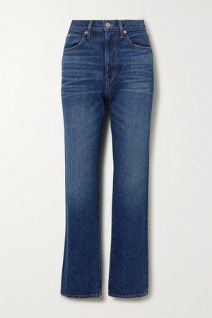 London High-rise Straight-leg Jeans - Dark denim