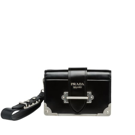Prada Cahier leather clutch bag