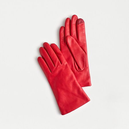 J.Crew: Cashmere-lined Leather Tech Gloves