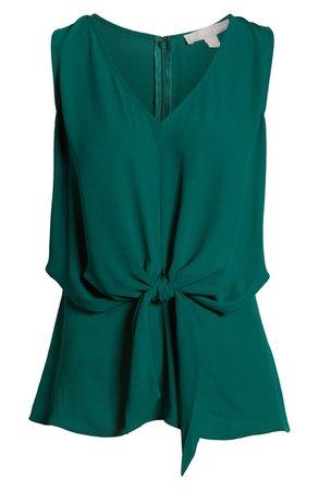 Chelsea28 Tie Waist Top  green