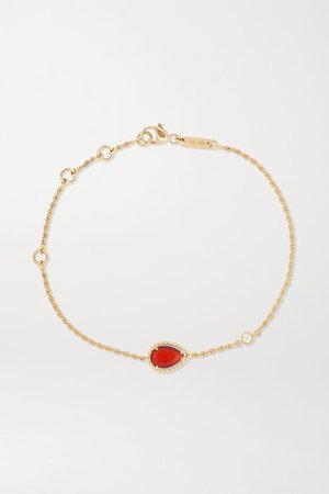 Boucheron | Serpent Bohème 18-karat gold, carnelian and diamond bracelet | NET-A-PORTER.COM