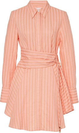 Significant Other Orla Striped Mini A-Line Dress Size: 10