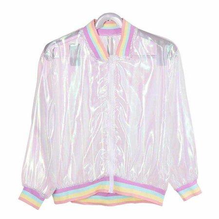 Holographic Rainbow Jacket | Shop Minu | Korean and Aesthetic fashion