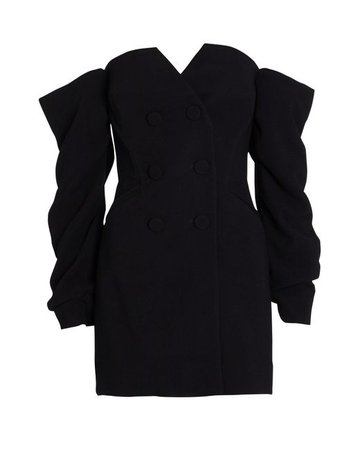 Acler Synthetic Perkins Crepe Blazer Dress in Black