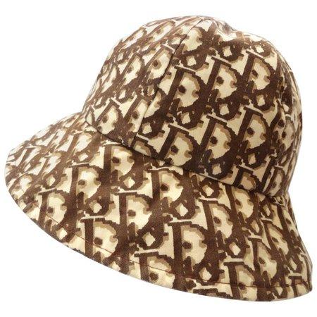 1990s Christian Dior Monogram Brown and Tan Bucket Hat at 1stdibs
