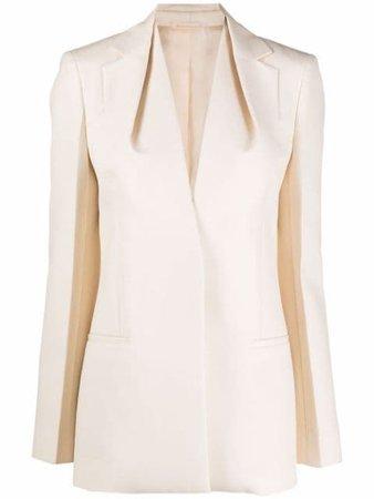 Givenchy draped-collar Tailored Blazer - Farfetch