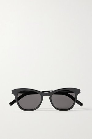 SAINT LAURENT | Round-frame acetate sunglasses | NET-A-PORTER.COM black