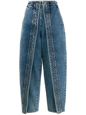 Stella Mccartney Panelled Wide Leg Jeans | Farfetch.com