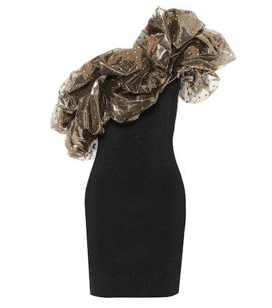 Off-the-shoulder knit minidress
