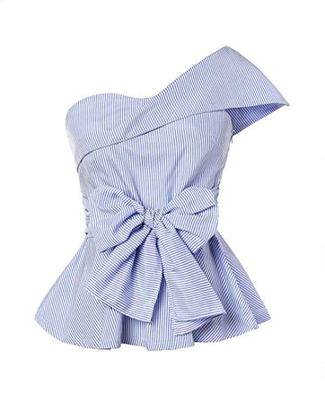 Romwe Women's Summer Slim Fit Striped Foldover One Shoulder Bow Tie Front Cap Sleeve Peplum Ruffle Tops Shirt Blouse Petite at Amazon Women's Clothing store