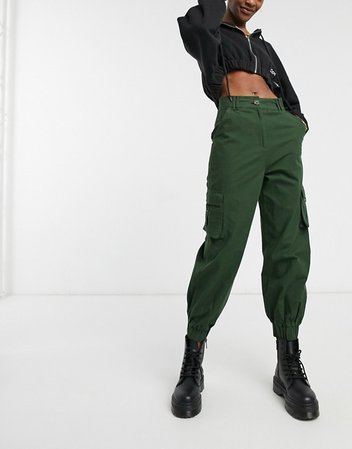 COLLUSION cargo trousers in khaki   ASOS