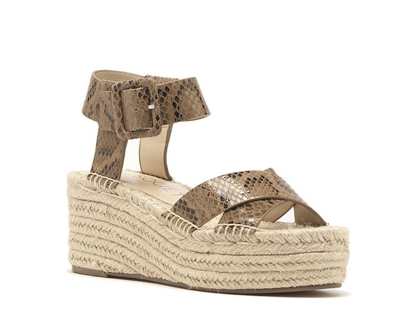 Sole Society Audrina Espadrille Wedge Sandal Women's Shoes | DSW Brown