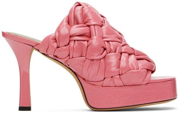 Pink Board Heeled Sandals