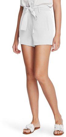 Tie Waist Textured Crepe Shorts