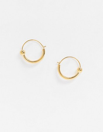 Whistles sphere hoop earrings in gold | ASOS